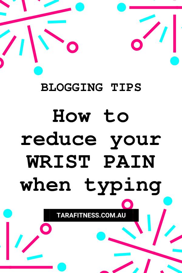 reduce wrist pain